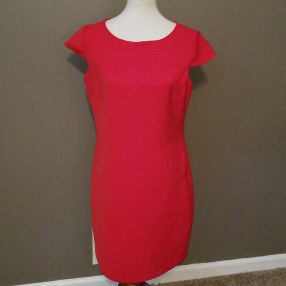 Anne Klein Dresses Womens Red Dress Size 10 Poshmark